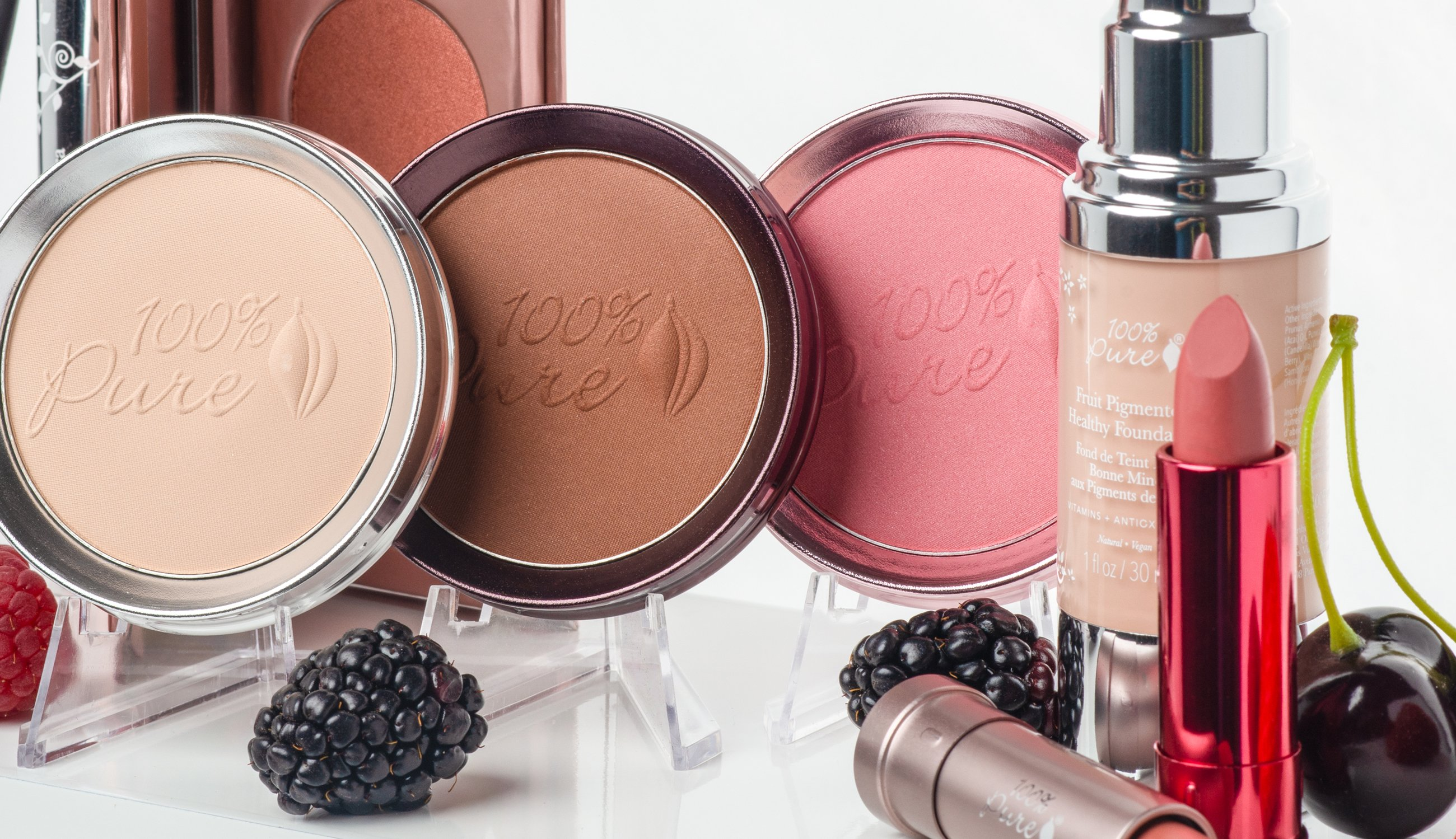 How are natural makeup products made?